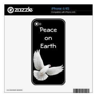 Customizable Peace Dove Zazzle Skin iPhone 4 Skin