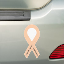 Customizable Peach Awareness Ribbon Car Magnet
