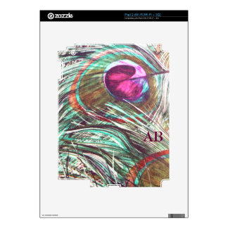 Customizable: Peacock feathers Decal For iPad 2
