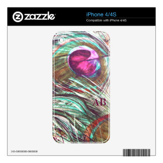 Customizable: Peacock feathers Skins For The iPhone 4S