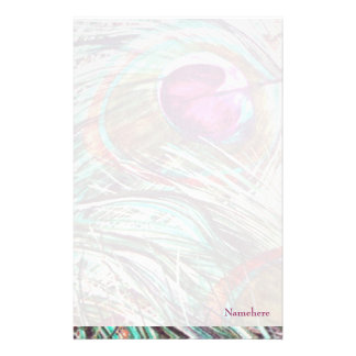 Customizable: Peacock feathers Stationery