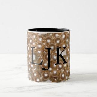 Customizable Pearls Two-Tone Coffee Mug