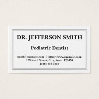 Customizable Pediatric Dentist Business Card