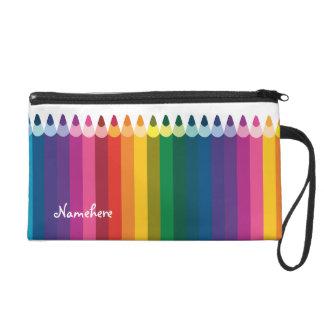 Customizable: Pencil stripe Wristlet Purses