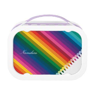 Customizable: Pencil stripes Lunch Box