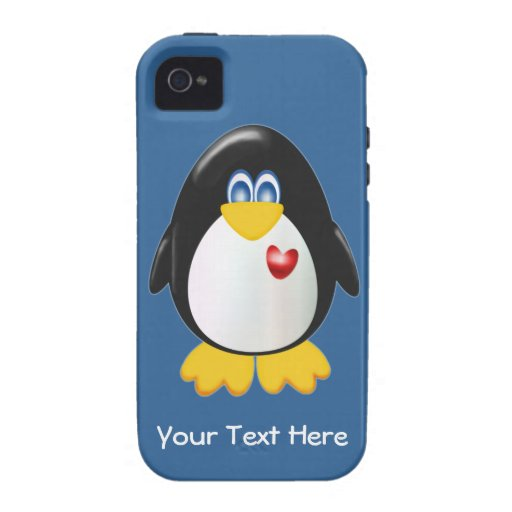 Customizable Penguin iPhone 4 Cover