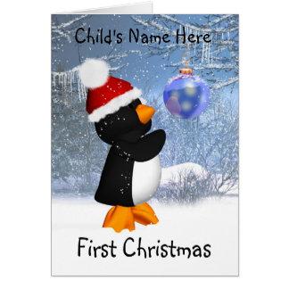 Customizable Penguin Christmas Card