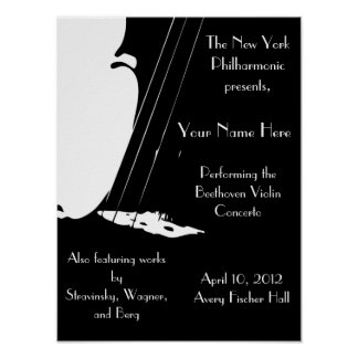 Customizable Performance Poster 12x16