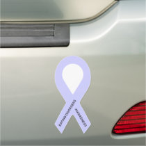 Customizable Periwinkle Awareness Ribbon Car Magnet