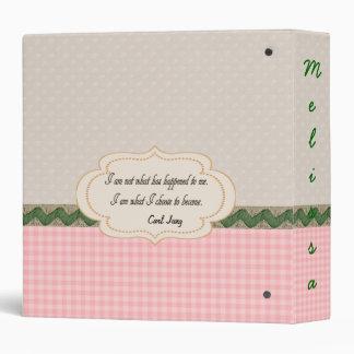 Customizable Personal Journal Diary Binder
