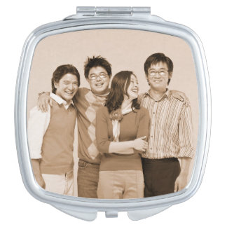 Customizable personal photo compact mirror