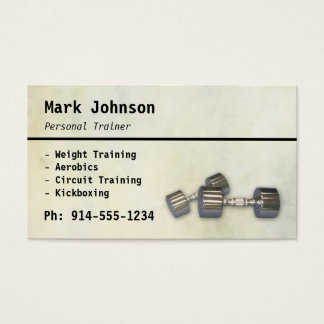 CUSTOMIZABLE Personal Trainer BC Business Card