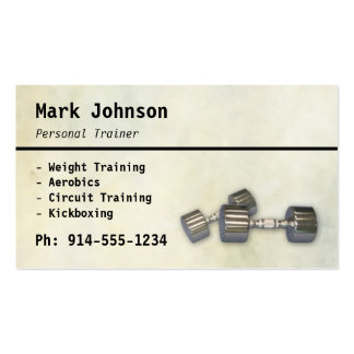 CUSTOMIZABLE Personal Trainer BC Double-Sided Standard Business Cards (Pack Of 100)