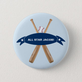 Customizable Personalize Baseball button