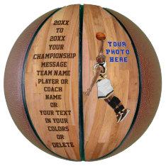 Customizable Personalized Basketball Photo, Text at Zazzle