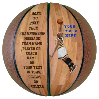 Customizable Personalized Basketball PHOTO, TEXT