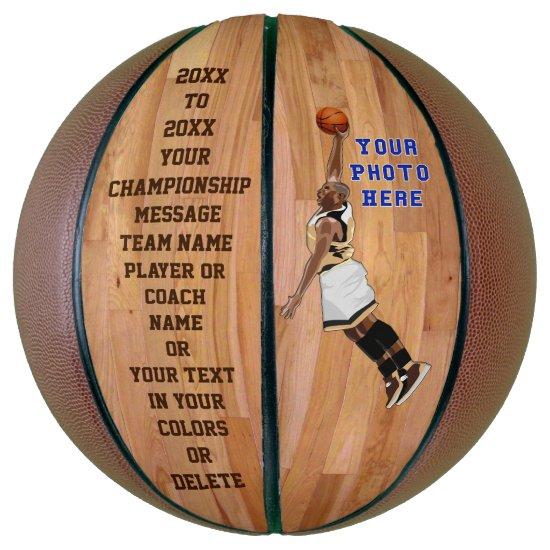 Customizable Personalized Basketball PHOTO, TEXT