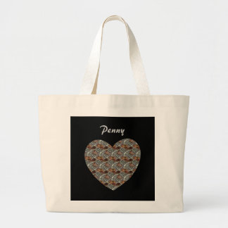 Customizable Personalized Coin Heart Totes