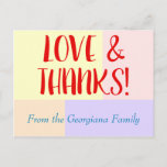 """[ Thumbnail: Customizable, Personalized """"Love & Thanks!"""" Card ]"""