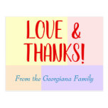 "[ Thumbnail: Customizable, Personalized ""Love & Thanks!"" Card ]"