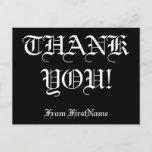 "[ Thumbnail: Customizable, Personalized ""Thank You!"" Postcard ]"