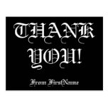 "[ Thumbnail: Customizable, Personalized ""Thank You!"" Postcard ]"
