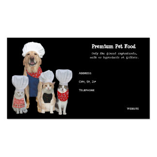 Customizable Pet Food/Treats Business Double-Sided Standard Business Cards (Pack Of 100)