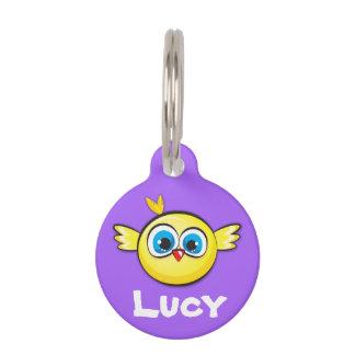 Customizable Pet ID Tag - Cute Chicken Design.