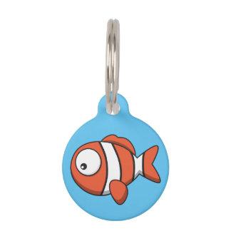 Customizable Pet ID Tag - Fish Design.