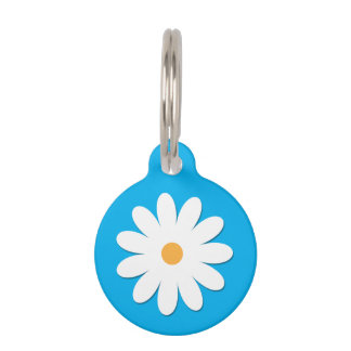 Customizable Pet ID Tag - Flower Design.