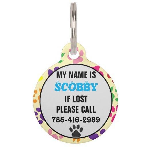 Customizable Pet Name Tag