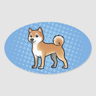 Customizable Pet Oval Sticker