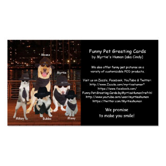 Customizable Pet Related Business Cards
