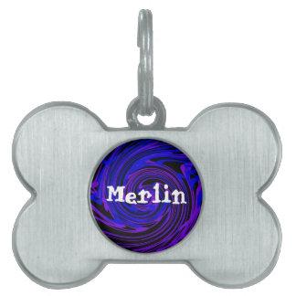 customizable pet tag - Merlin