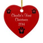 Customizable Pet's First Christmas Christmas Ornaments