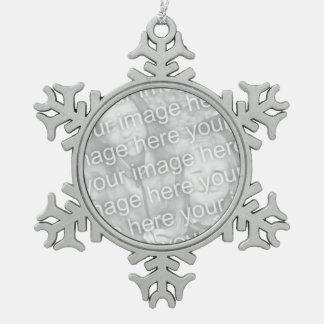 Customizable Pewter Snowflake Ornament