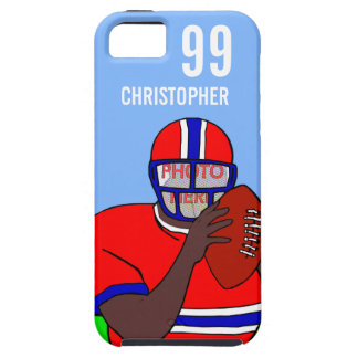 Customizable photo and name football grid iron AA iPhone SE/5/5s Case