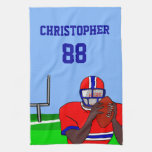 Customizable photo and name football grid iron AA Hand Towels