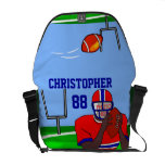 Customizable photo and name football grid iron AA Commuter Bags