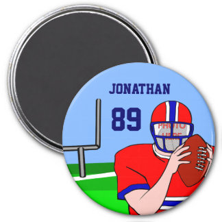 Customizable Photo and Name Football Grid Iron Magnet