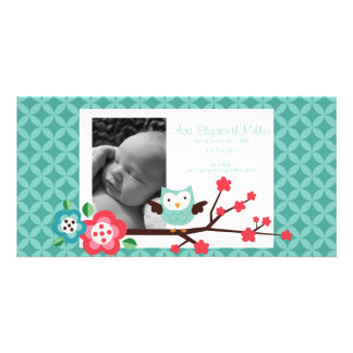 Customizable Photo Birth Announcement