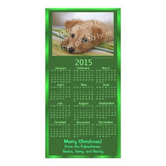 Customizable Photo Card 2015 Calendar Green Xmas