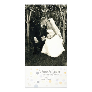 Customizable Photo Card: Champagne Bubbles Card