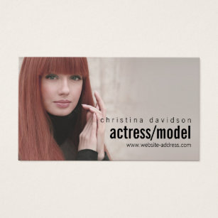 Actor business cards templates zazzle customizable photo card for actors models colourmoves Choice Image