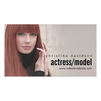Customizable Photo Card for Actors, Models Double-Sided Standard Business Cards (Pack Of 100)