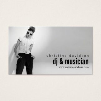 Musician business cards templates zazzle customizable photo card for djs bands musicians reheart Choice Image