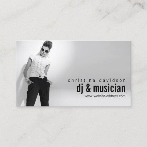 Customizable Photo Card for DJs Bands Musicians