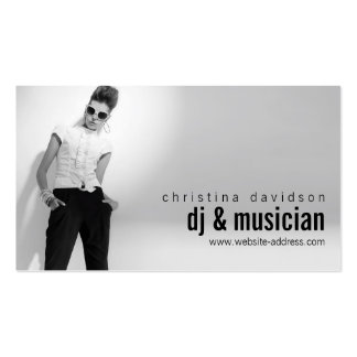 Customizable Photo Card for DJs, Bands, Musicians Business Card