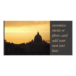 customizable photo card Rome skyline