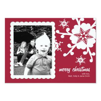 Customizable Photo Christmas Card - Cheery Red